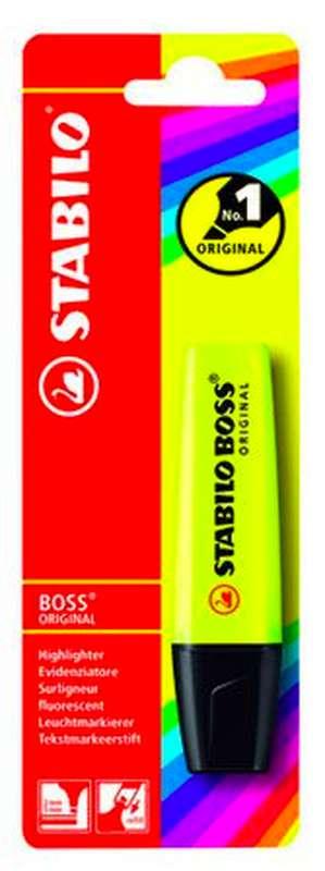Surligneur jaune Boss Original, Stabilo