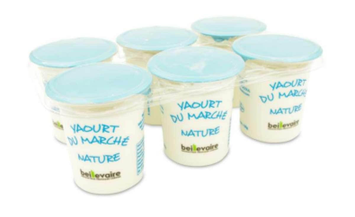 Yaourt du marché nature, Beillevaire (x 6, 750 g)