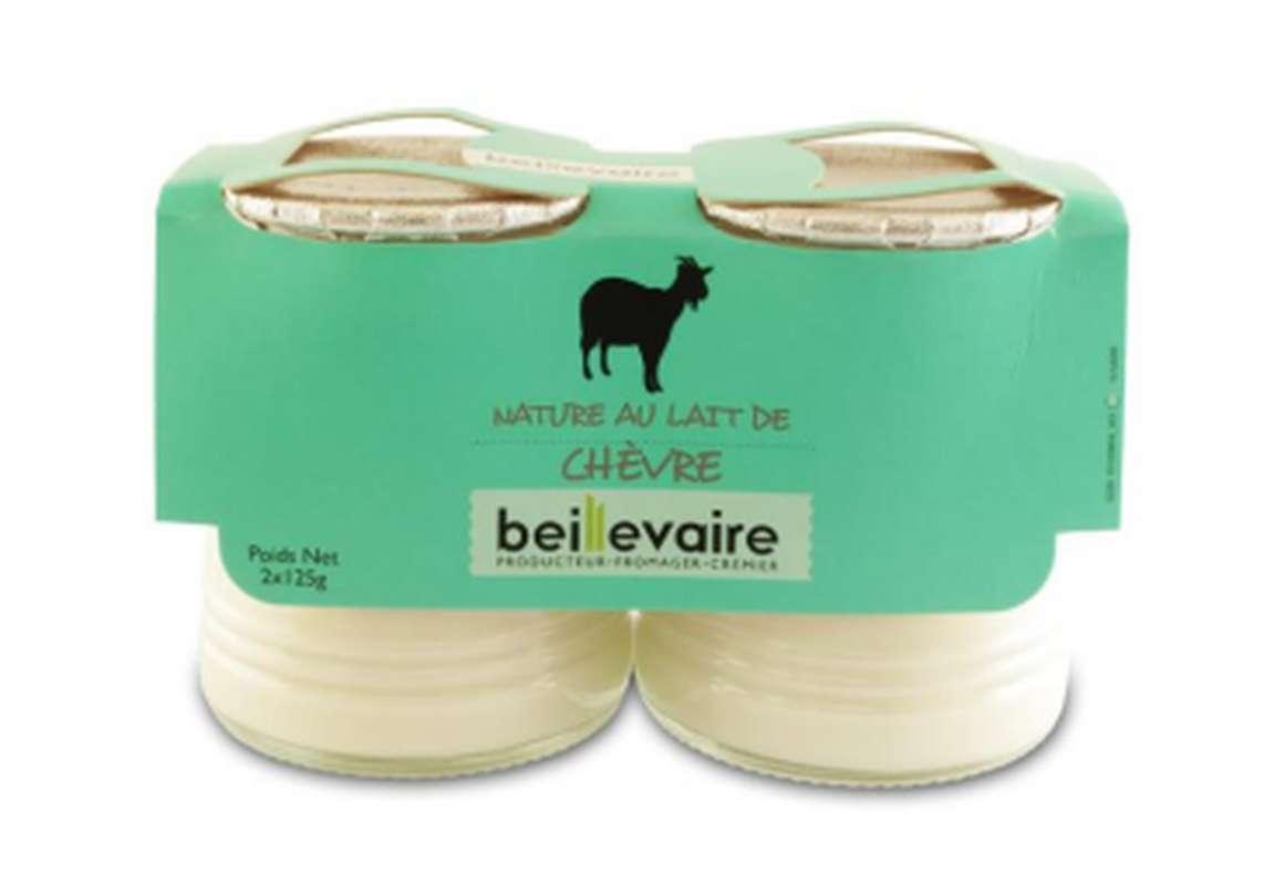 Yaourt nature au lait de chèvre, Beillevaire (2 x 125 g)