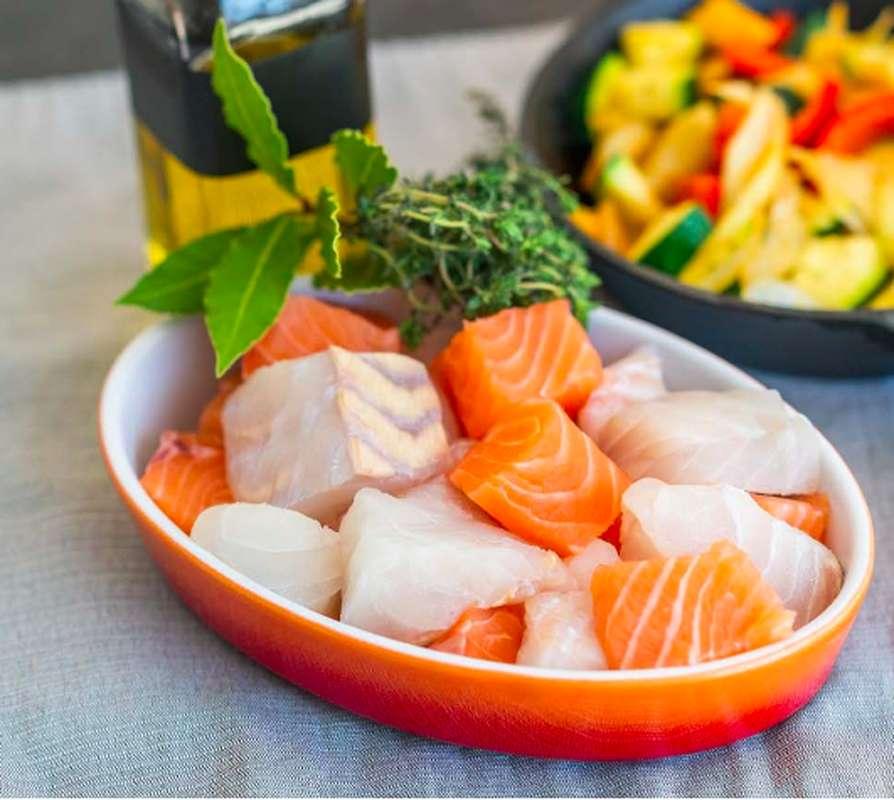 Mélange du pêcheur Cabillaud / Lieu noir / Saumon non traité (300 g)