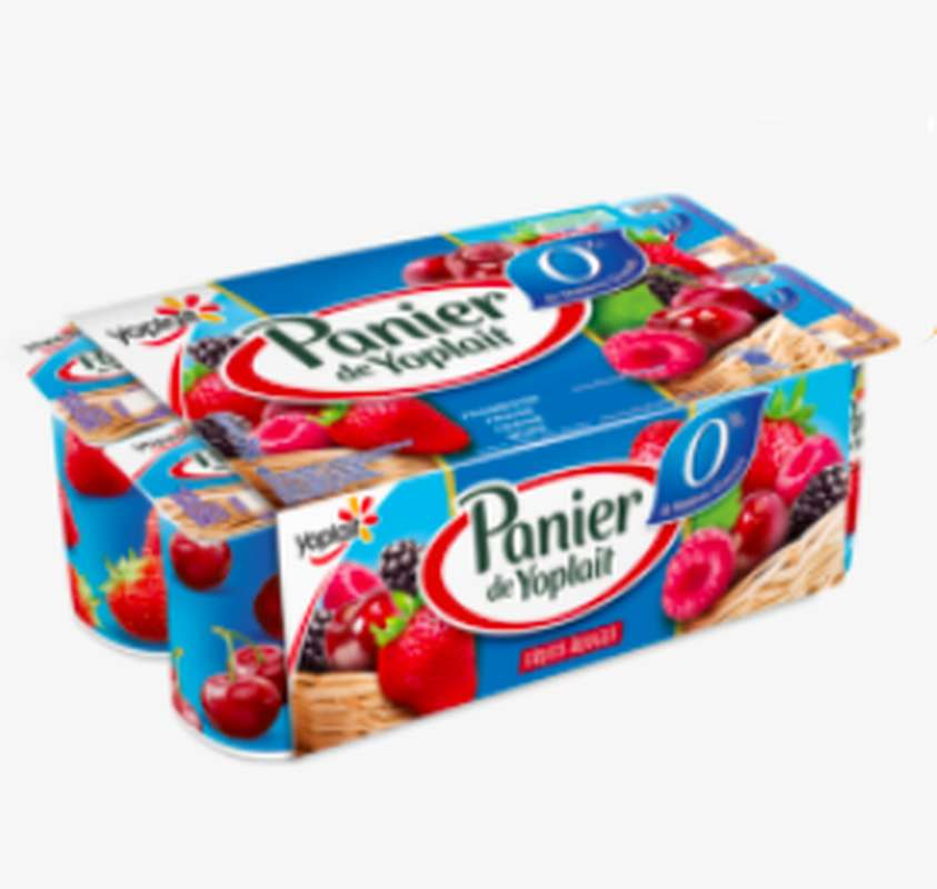 Yaourt 0% aux fruits rouges, Panier de Yoplait (8 x 125 g)