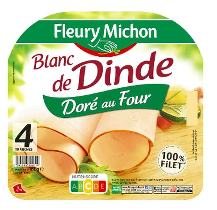 Blanc de dinde doré au four, Fleury Michon (4 tranches, 160 g)