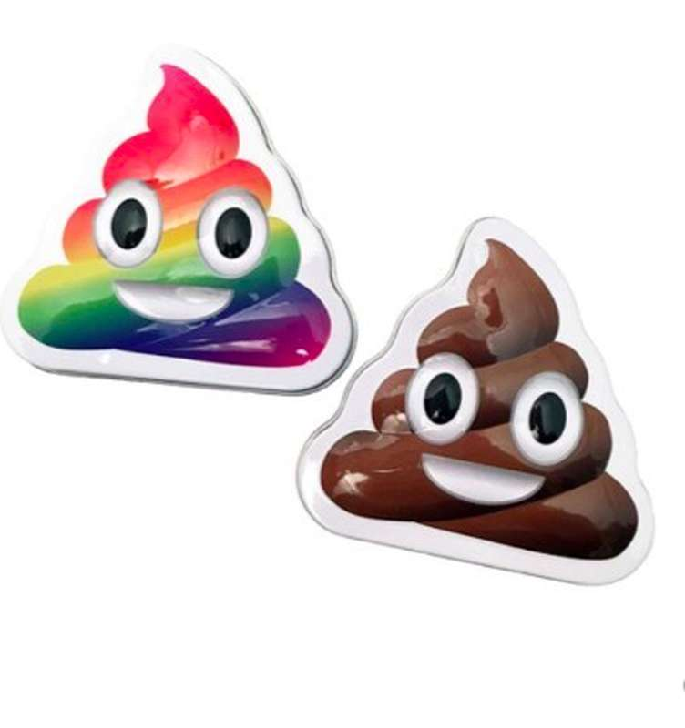 Bonbon goût vanille, emoji poop (28 g)