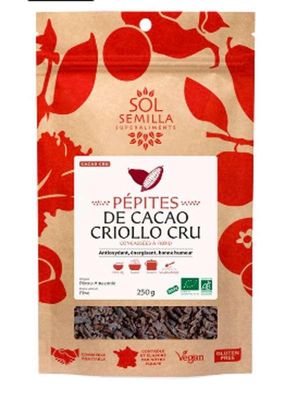 Cacao cru en pépites BIO, Sol Semilla (250 g)