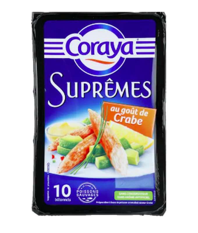 Bâtonnets de surimi Suprêmes au goût de crabe, Coraya (x 10, 156 g)