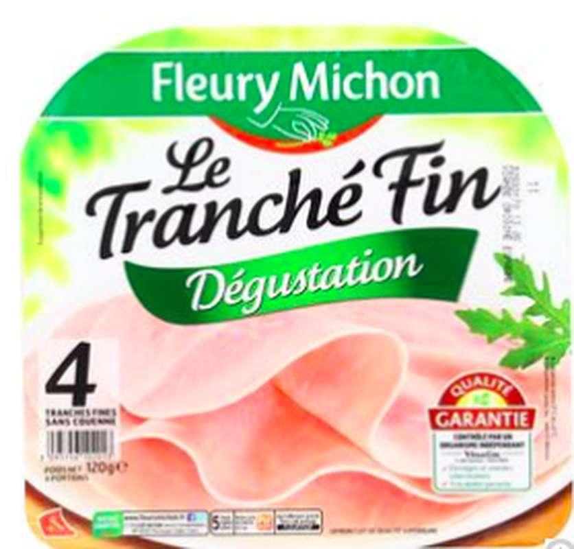 Jambon Le Tranché fin dégustation, Fleury Michon (4 tranches, 120 g)