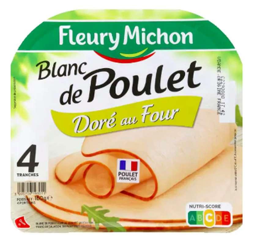 Blanc de poulet doré au four, Fleury Michon (4 tranches, 160 g)