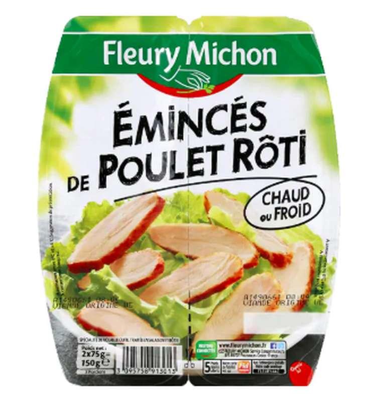 Emincé de poulet rôti, Fleury Michon (2 x 75 g)