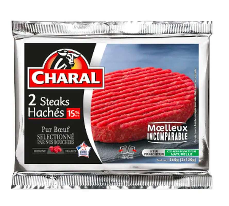 Steak haché 15% MG, Charal (2 x 130 g)