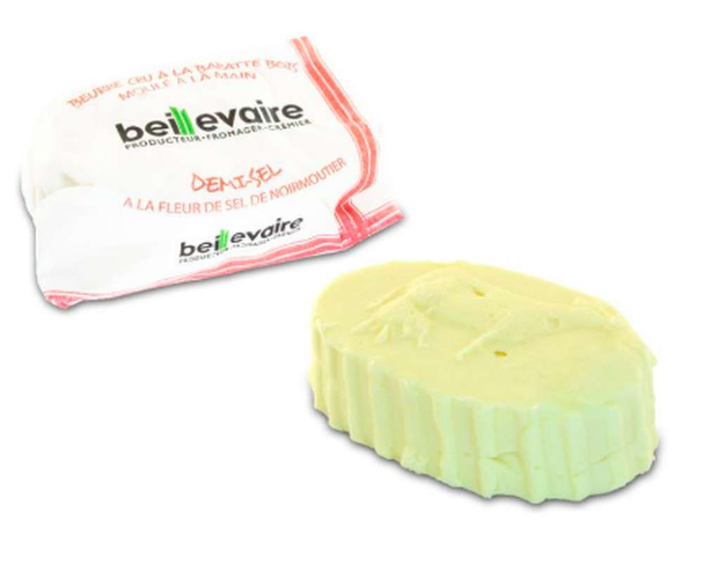 Beurre artisanal cru demi-sel, Beillevaire (125 g)