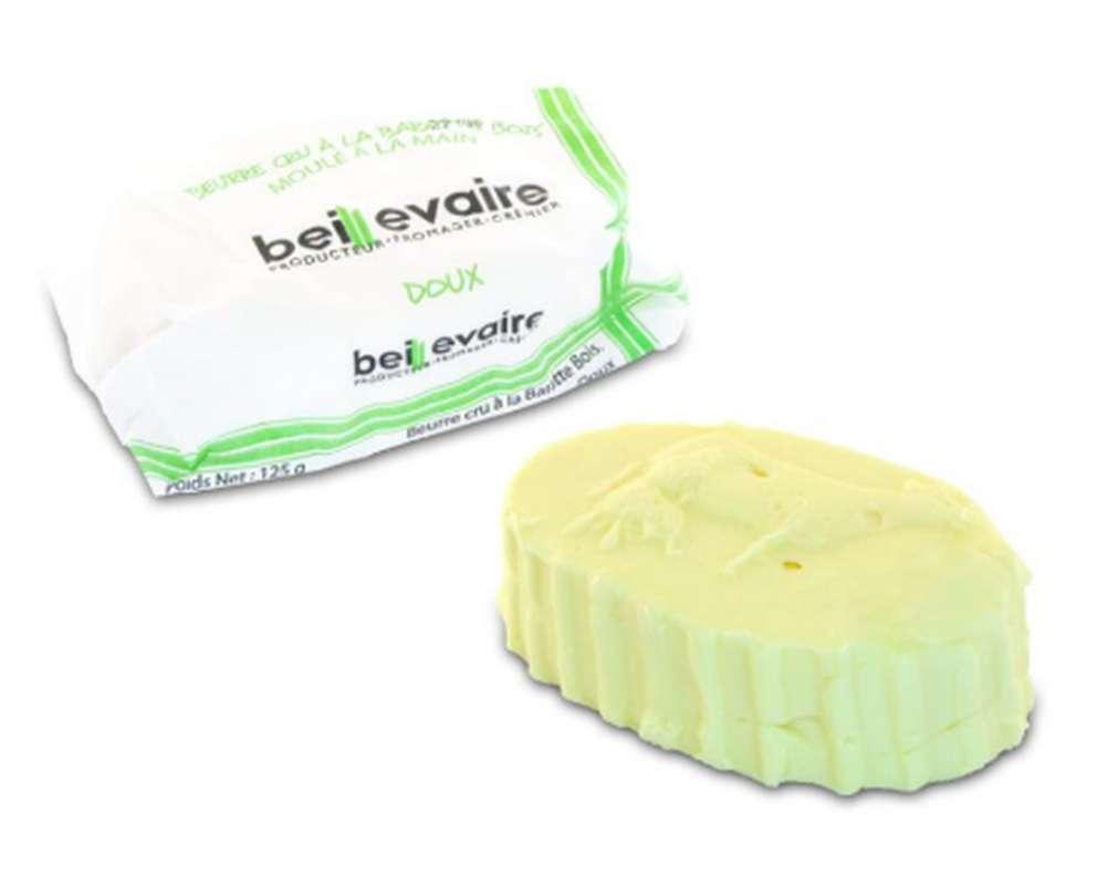 Beurre artisanal cru doux, Beillevaire (125 g)