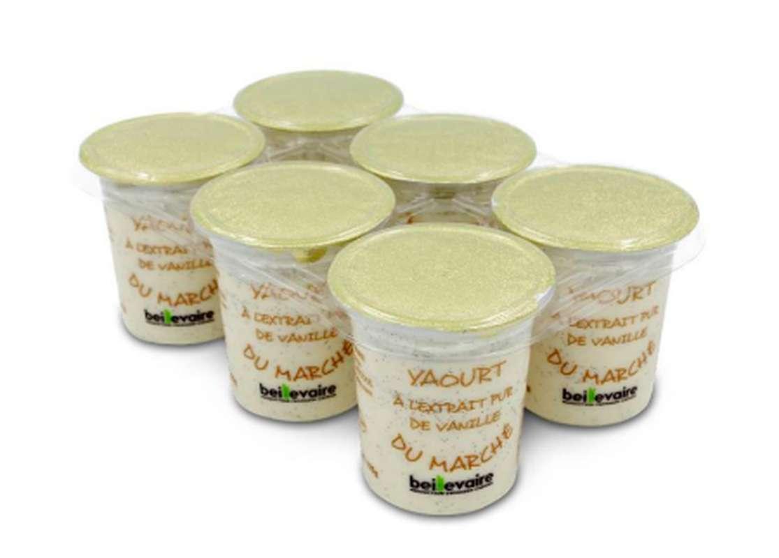 Yaourt du marché vanille, Beillevaire (x 6)