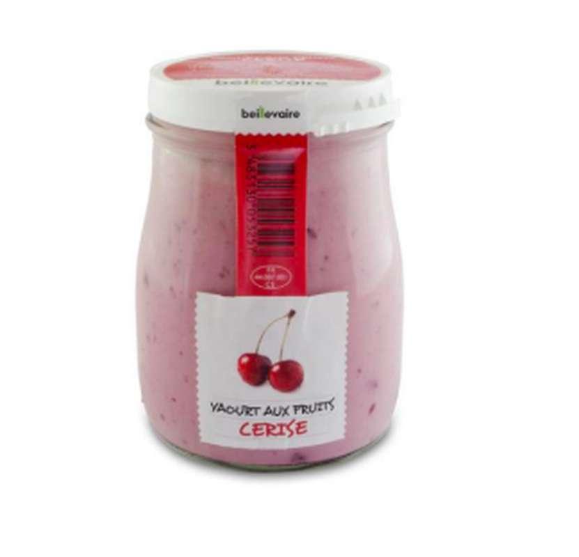 Yaourt à l'ancienne aux fruits cerise, Beillevaire (180 g)