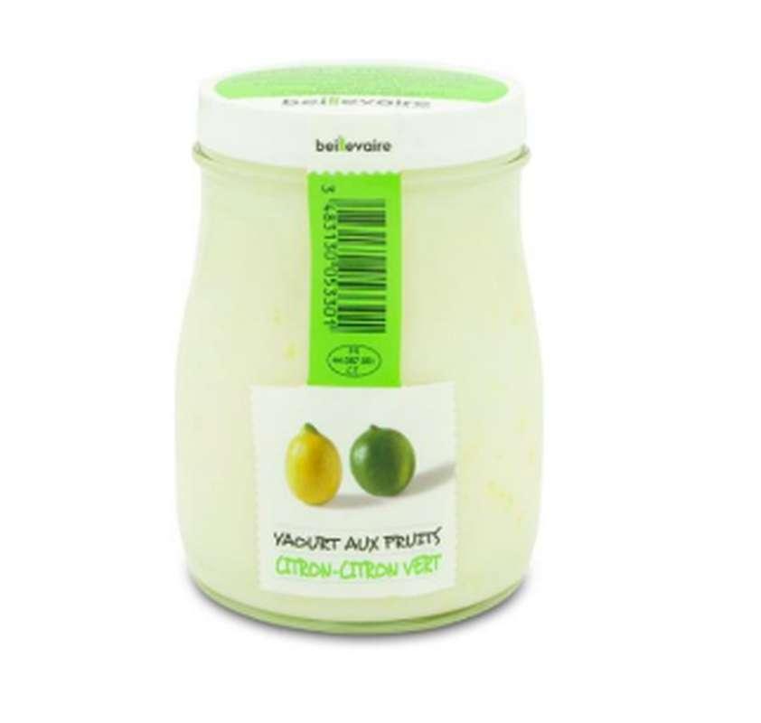 Yaourt à l'ancienne aux fruits citron et citron vert, Beillevaire (180 g)