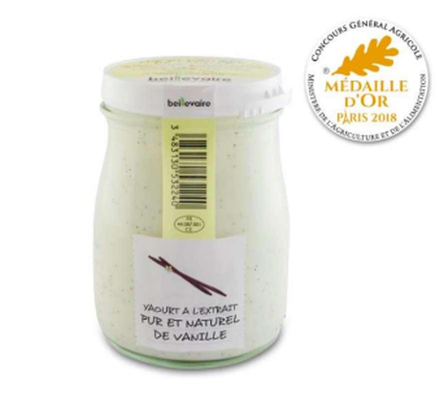 Yaourt à l'ancienne extrait de vanille, Beillevaire (180 g)