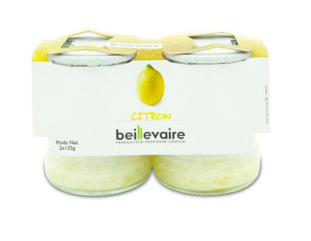 Yaourt aux fruits citron, Beillevaire (x 2)