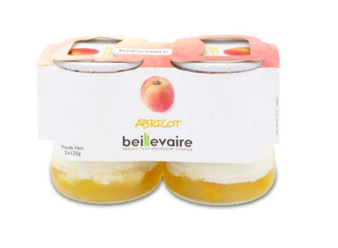 Yaourt aux fruits abricot, Beillevaire (x 2, 250 g)