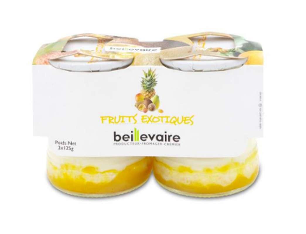 Yaourt aux fruits exotiques, Beillevaire (x 2, 250 g)
