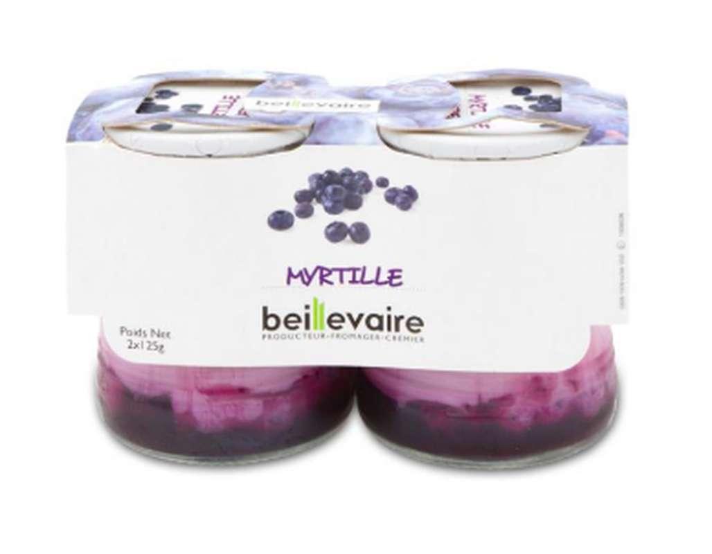 Yaourt aux fruits myrtille, Beillevaire (x 2, 250 g)