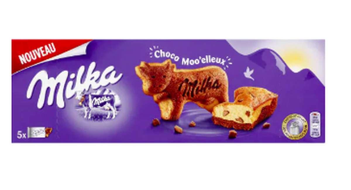 Biscuits moo'elleux aux pépites de chocolat, Milka (x 5, 140 g)