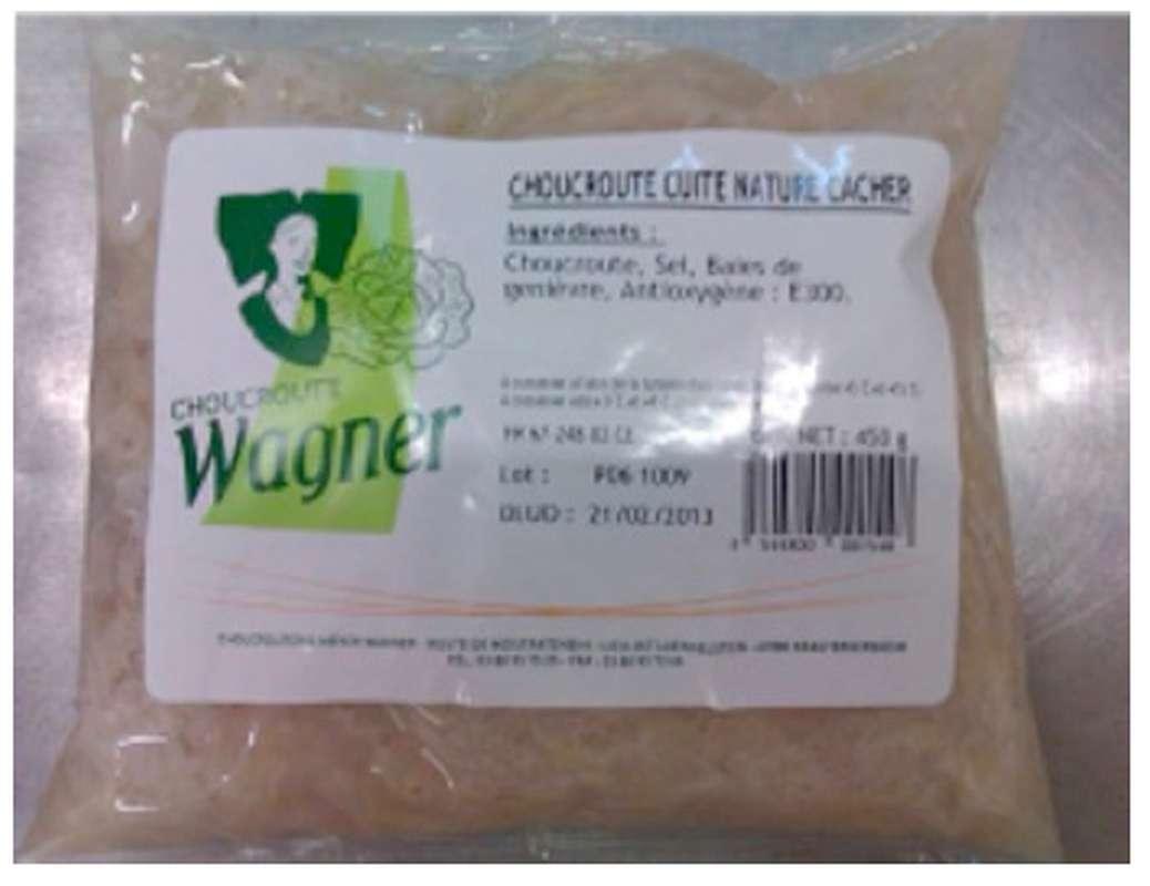 Choucroute cuisinée au vin blanc, Wagner (450 g)