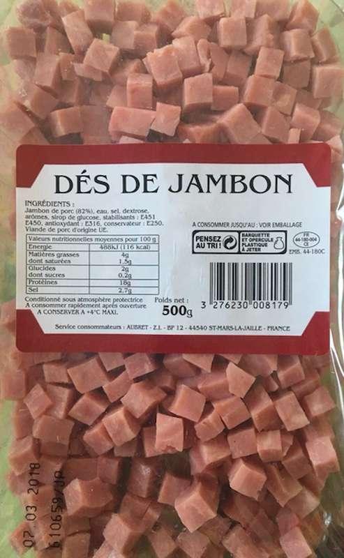 Dés de jambon (500 g)
