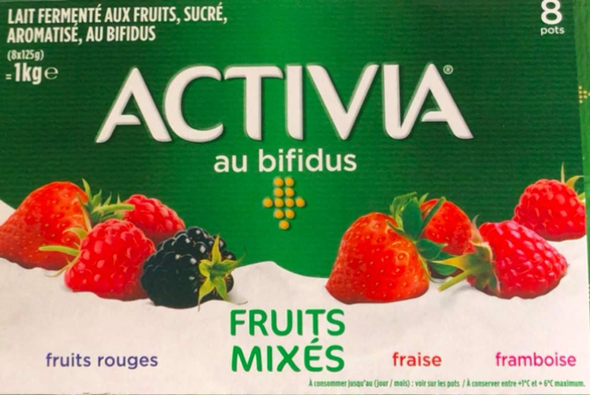 Yaourt aux fruits rouges mixés, Activia (8 x 125 g)