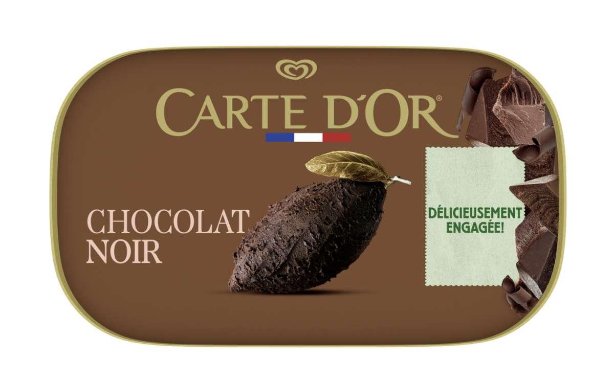 Glace chocolat noir, Carte d'or (482 g)
