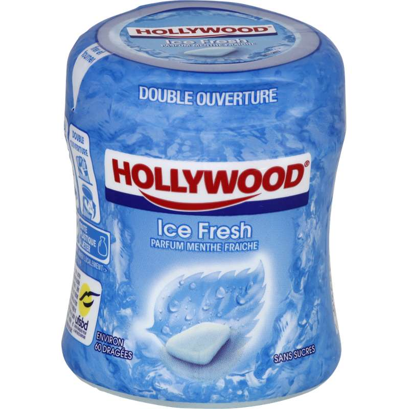 Chewing Gum Ice Fresh sans sucre, Hollywood (87 g)