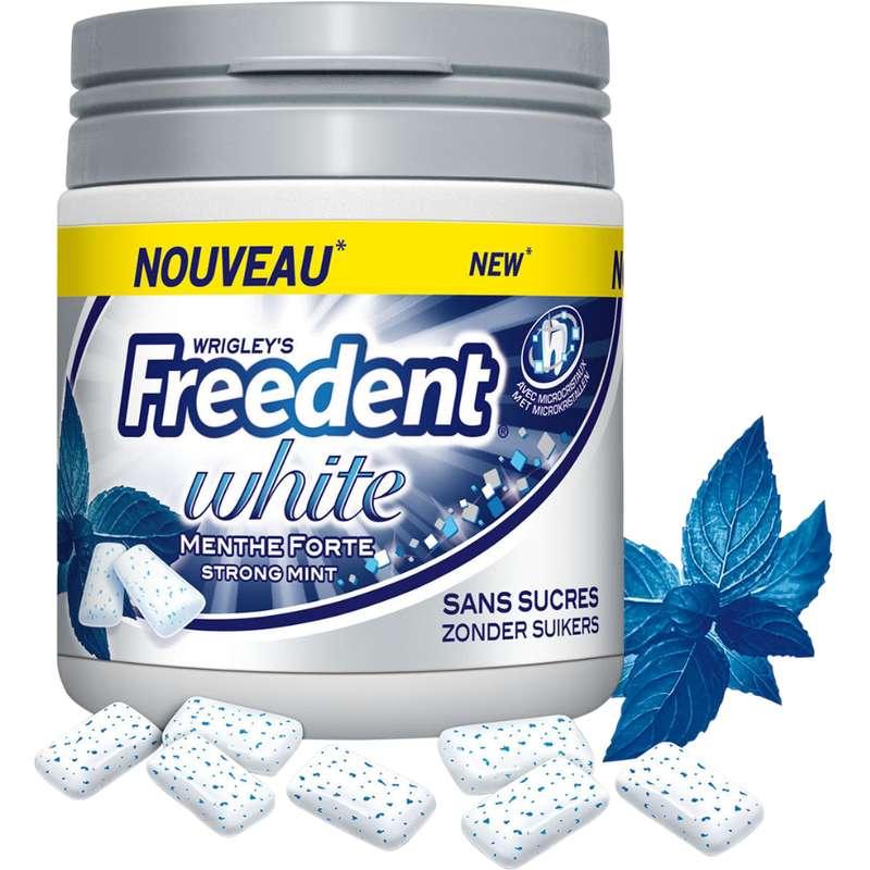 Chewing gum dragée Menthe forte sans sucre, Freedent White (84 g)