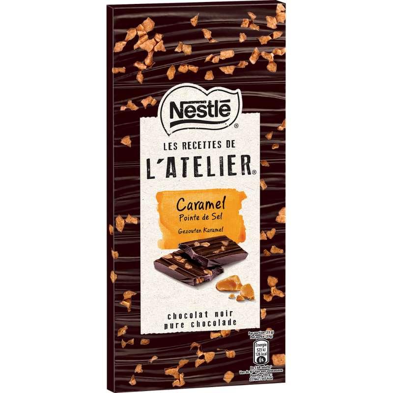 Chocolat noir l'Atelier au caramel avec pointe de sel, Nestlé (115 g)
