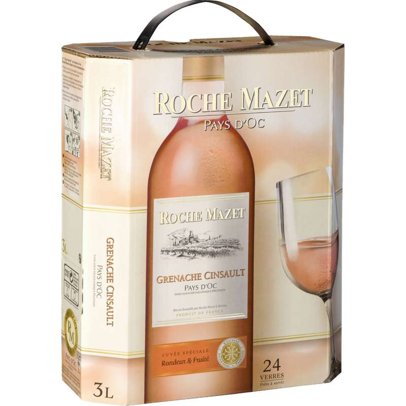 Cinsault Grenache Rosé Roche Mazet 2019 (3 L)