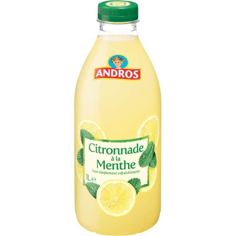 Citronnade menthe réfrigérée, Andros (1 L)
