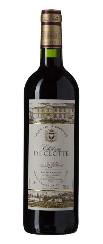 Côtes de Bordeaux Chateau de Clotte 2018 (75 cl)