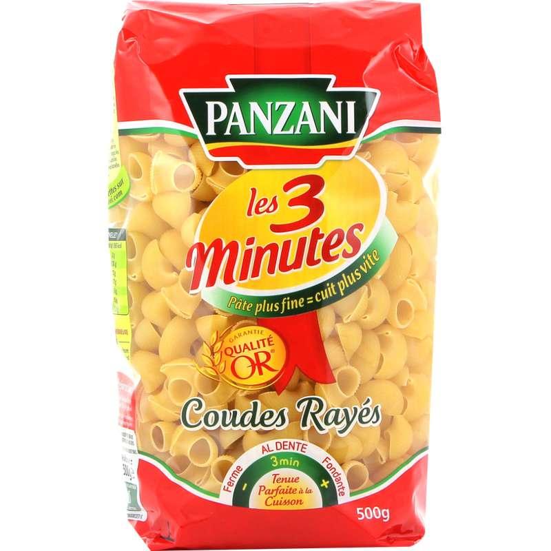 Coudes rayés cuisson rapide, Panzani (500 g)