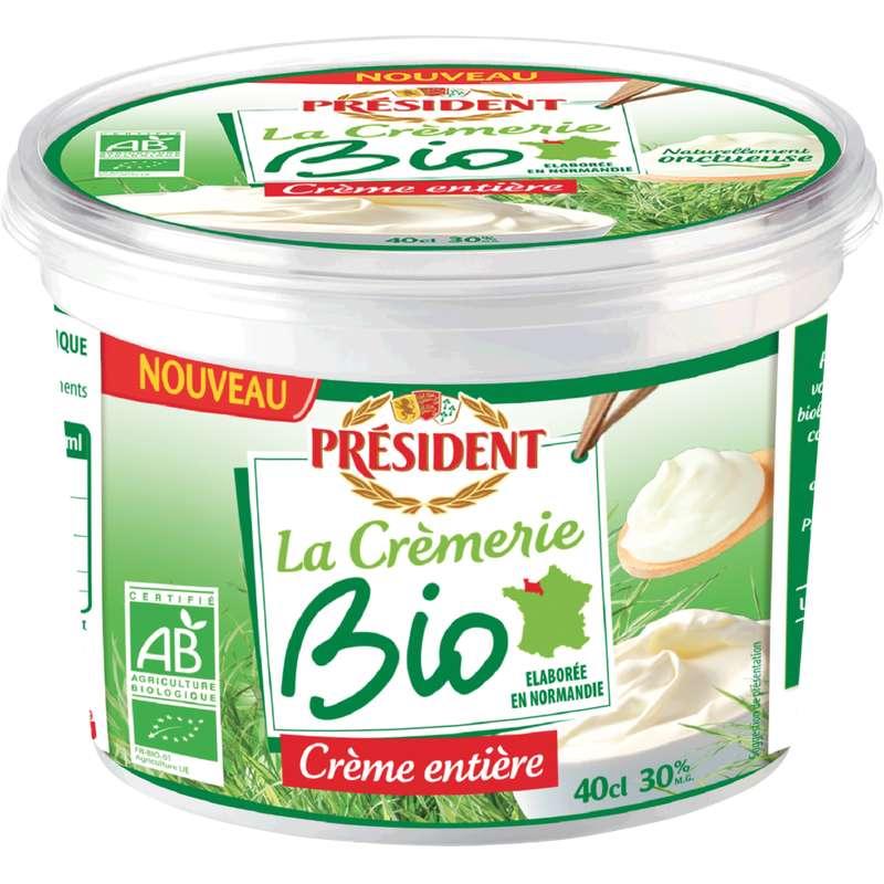 Crème fraîche épaisse 30% BIO, Président (40 cl)