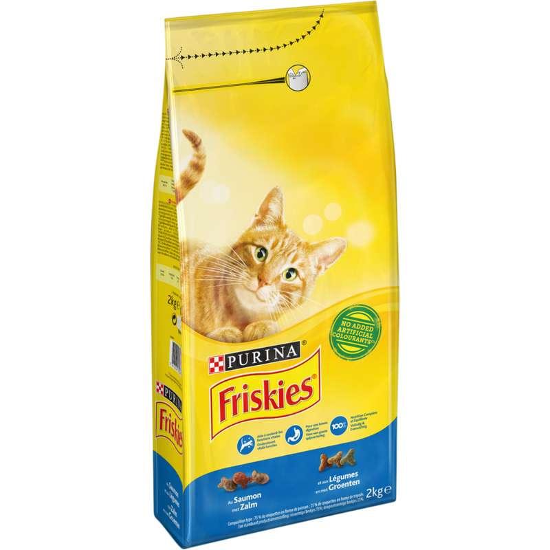 Croquettes pour chat adulte au saumon et légumes Friskies, Purina (2 kg)