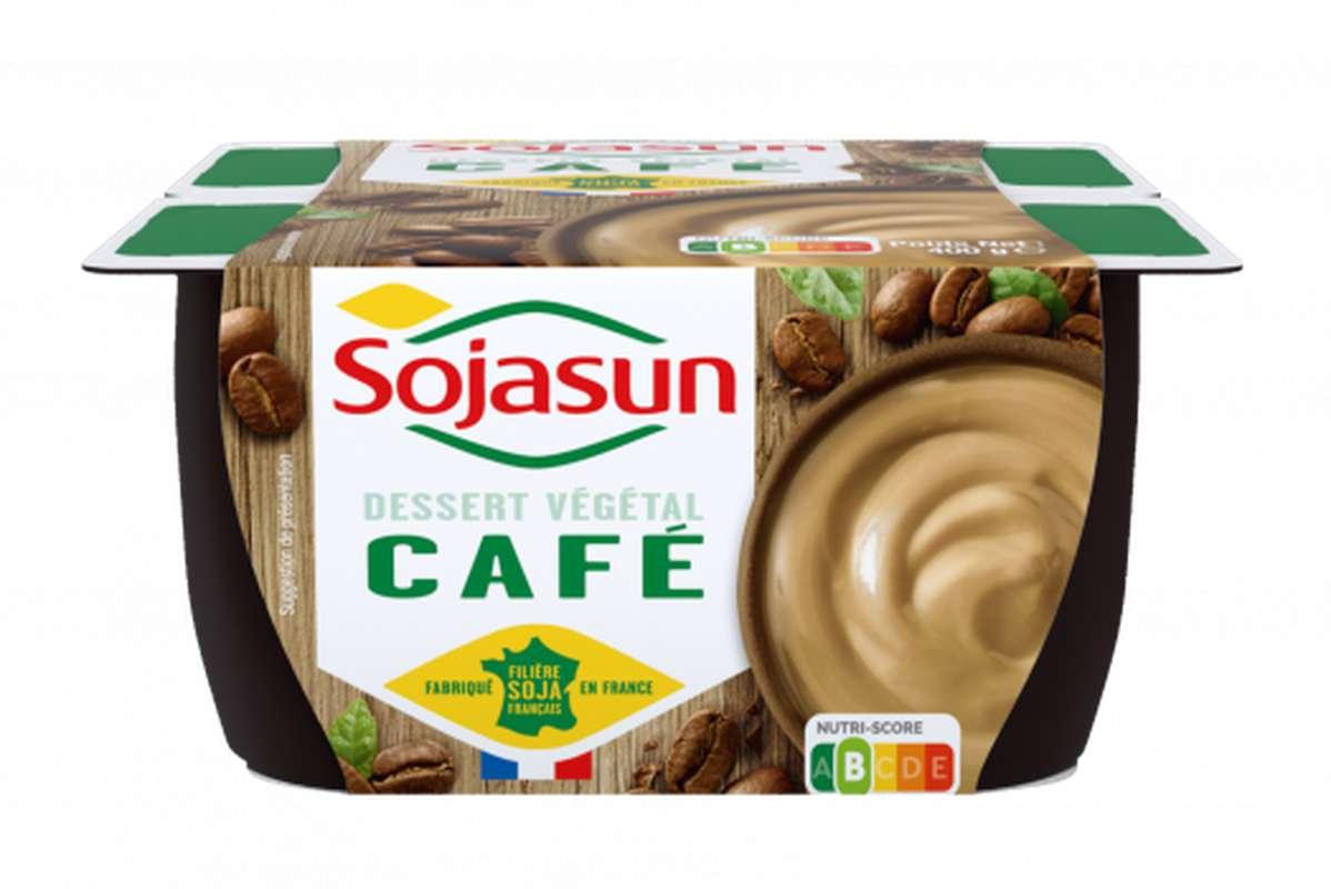 Dessert végétal Café, Sojasun (4 x 100 g)