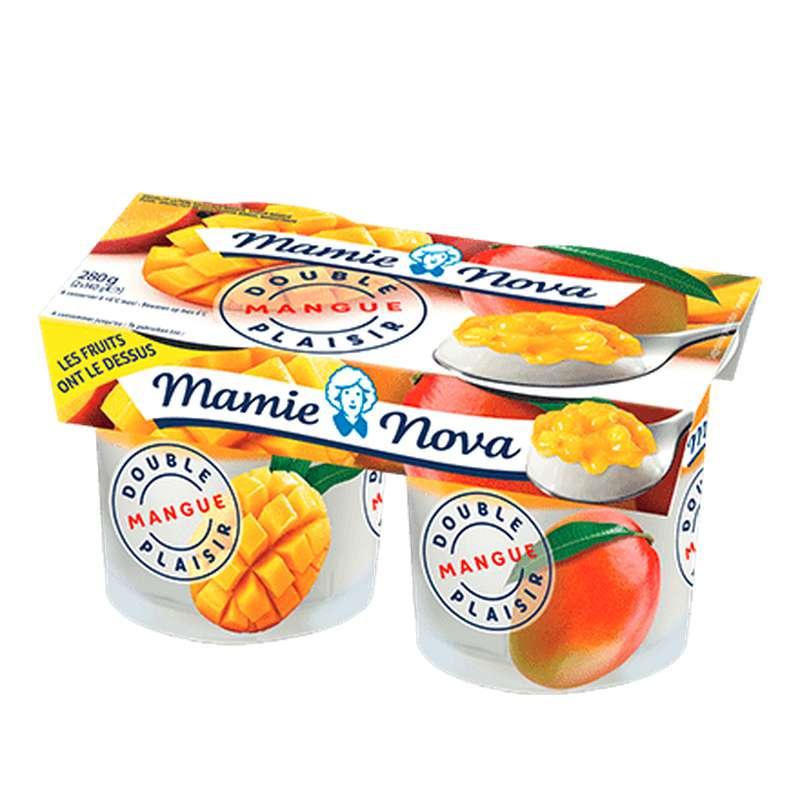 Yaourt Double Plaisir à la Mangue, Mamie Nova (2 x 140 g)