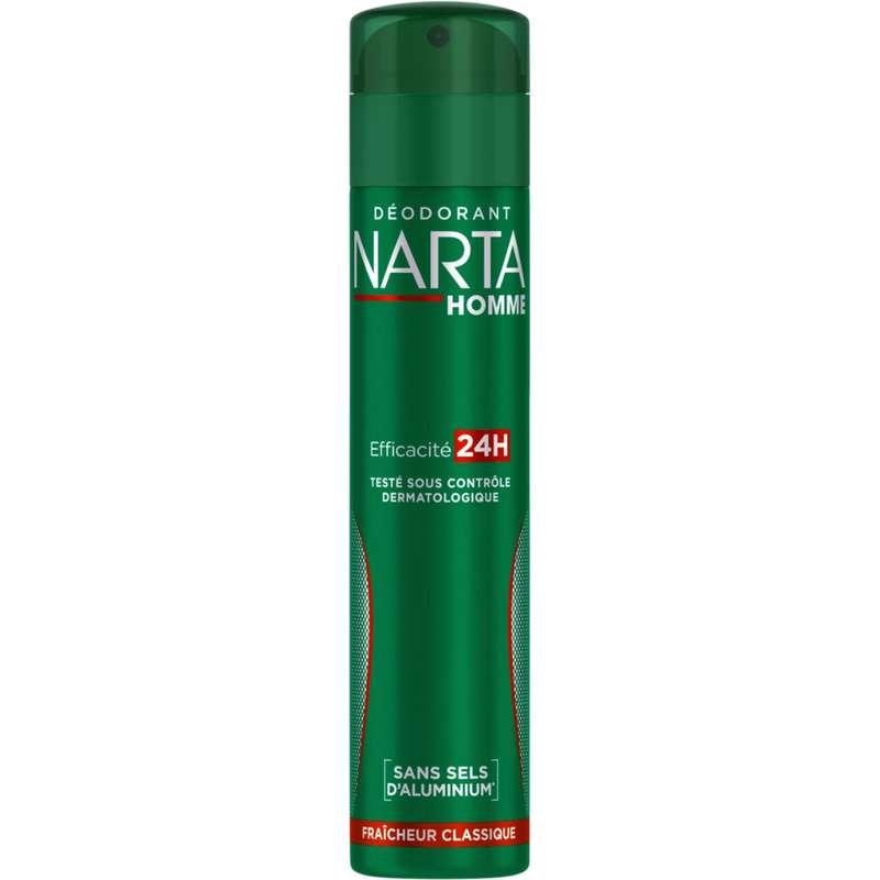 Déodorant spray Fraîcheur Classique pour homme, Narta (200ml)