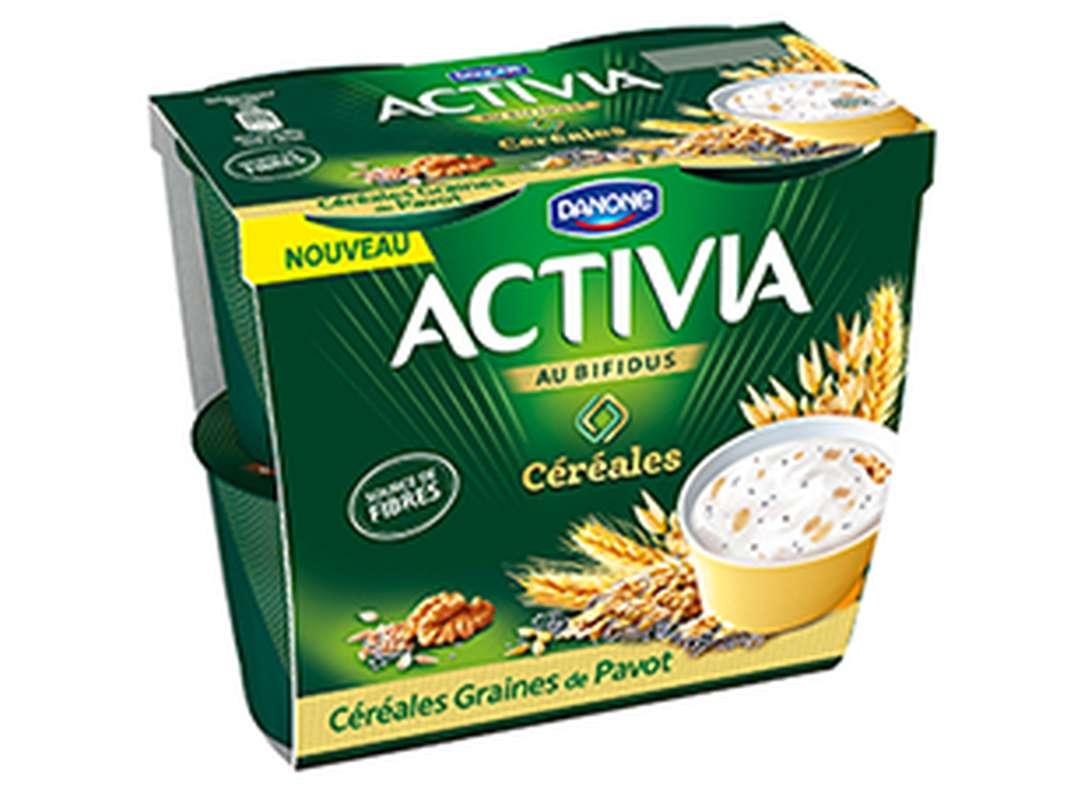 Yaourt céréales graines de pavot Activia (4 x 120 g)