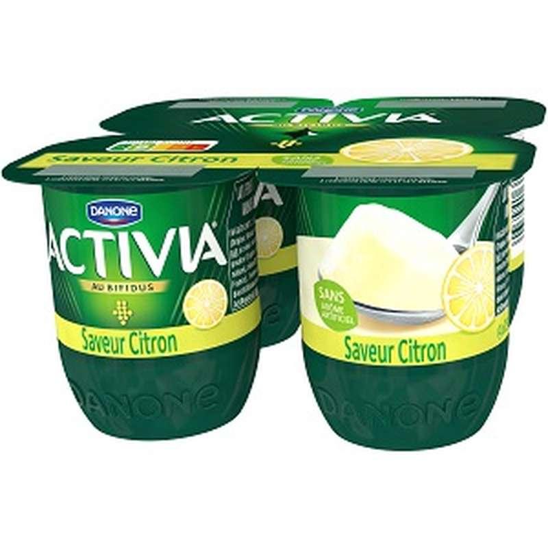 Yaourt Activia saveur Citron, Danone (4 x 125 g)
