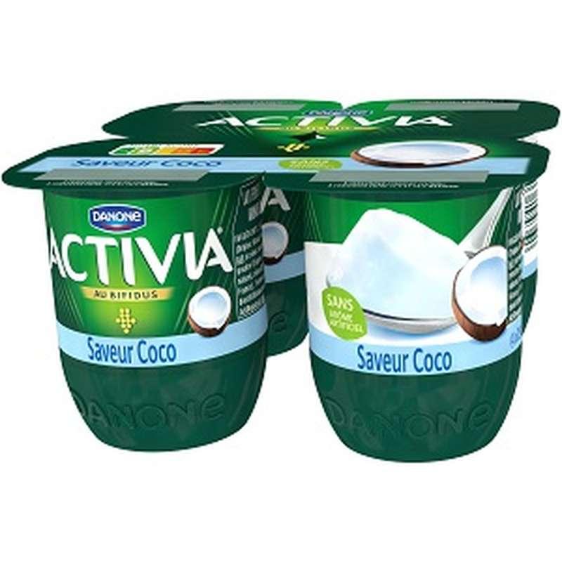 Yaourt Activia saveur Coco, Danone (4 x 125 g)