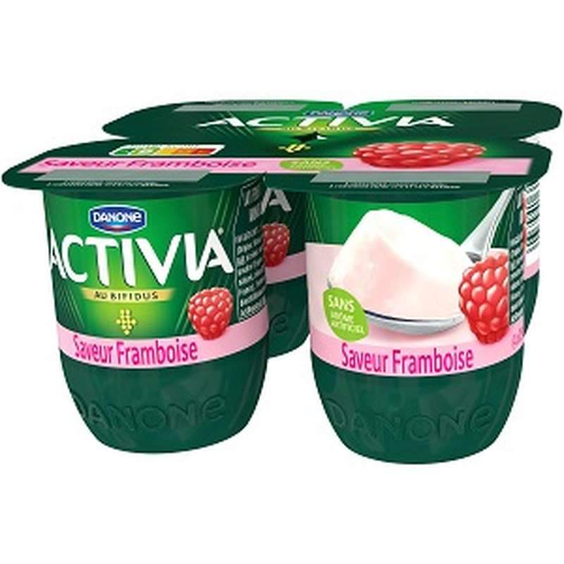 Yaourt Saveur Framboise Activia (4 x 125 g)