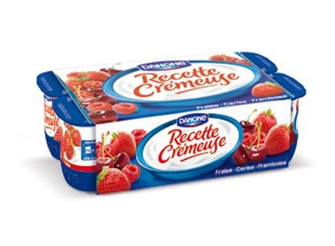 Yaourt recette crémeuse Fruits Rouges, Danone (8 x 125 g)