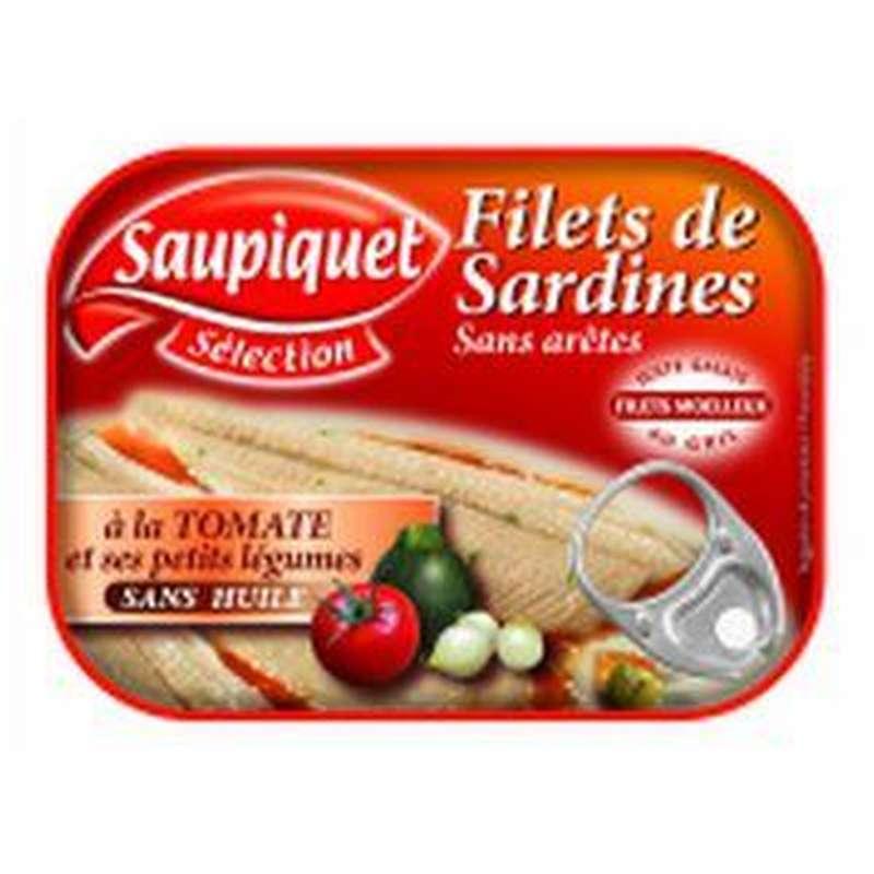 Filets de Sardines sauce tomate & petits légume/sans arêtes, Saupiquet (100 g)