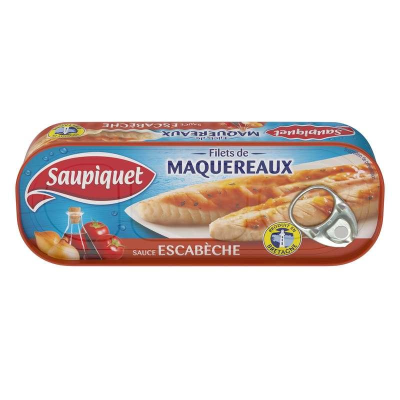 Filets de maquereaux sauce escabèche, Saupiquet (169 g)