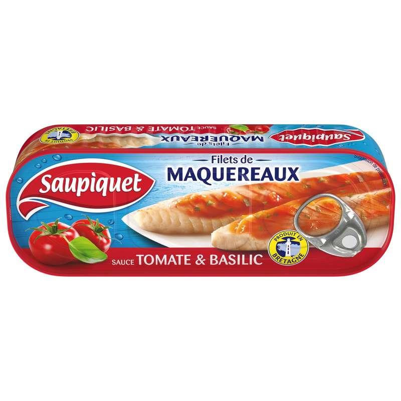 Filets de maquereaux tomate & basilic, Saupiquet (169 g)