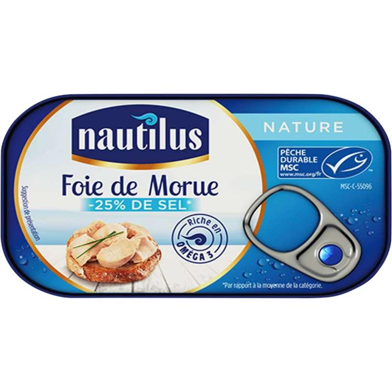 Foie de morue nature, Nautilus (120 g)