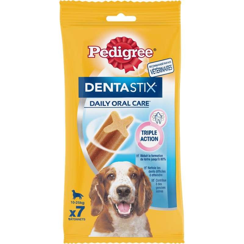 Friandise Dentastix pour chien moyens et grands, Pedigree (x 7, 180 g)